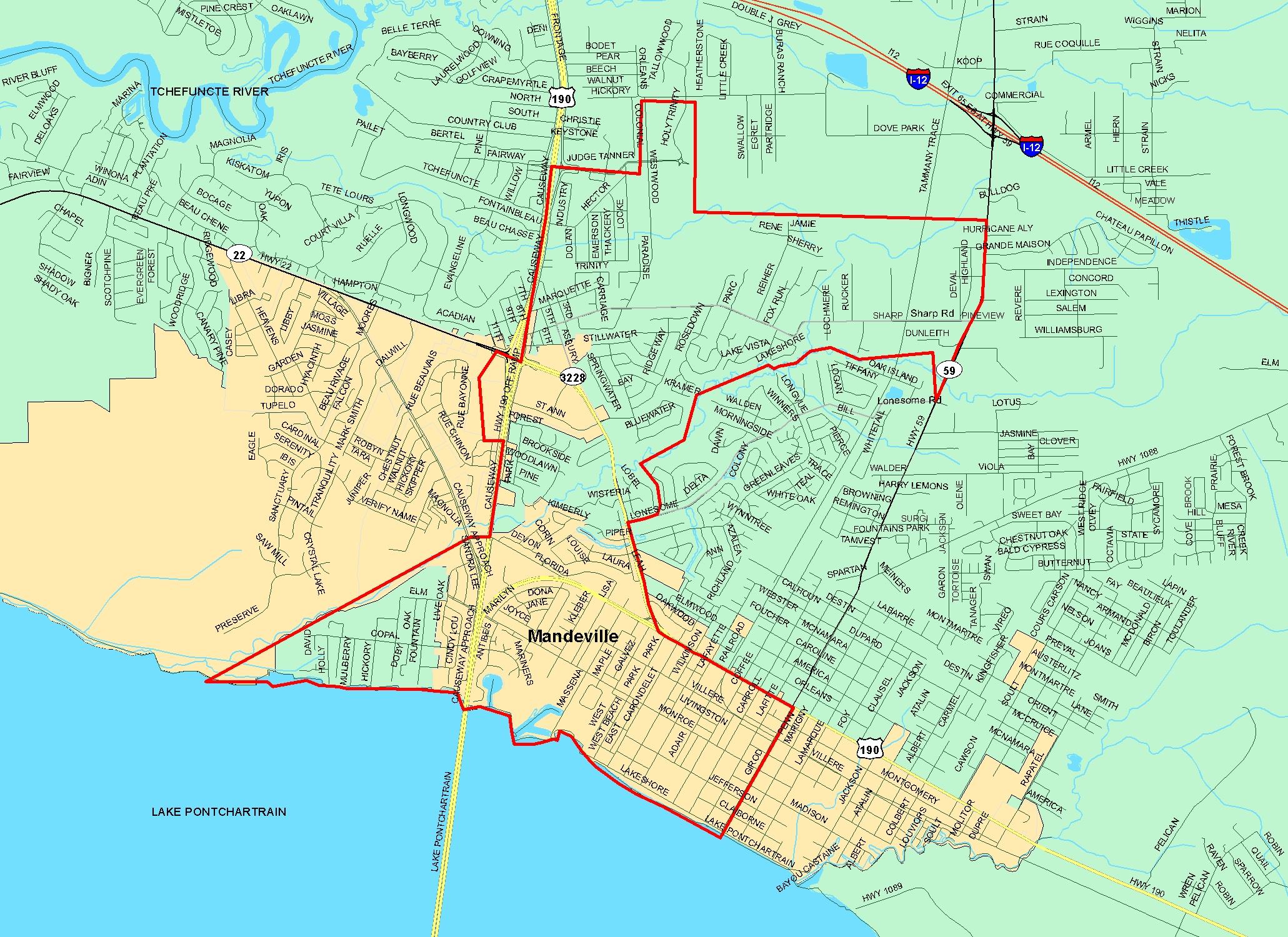 Mandeville La Map St. Tammany Parish School Board