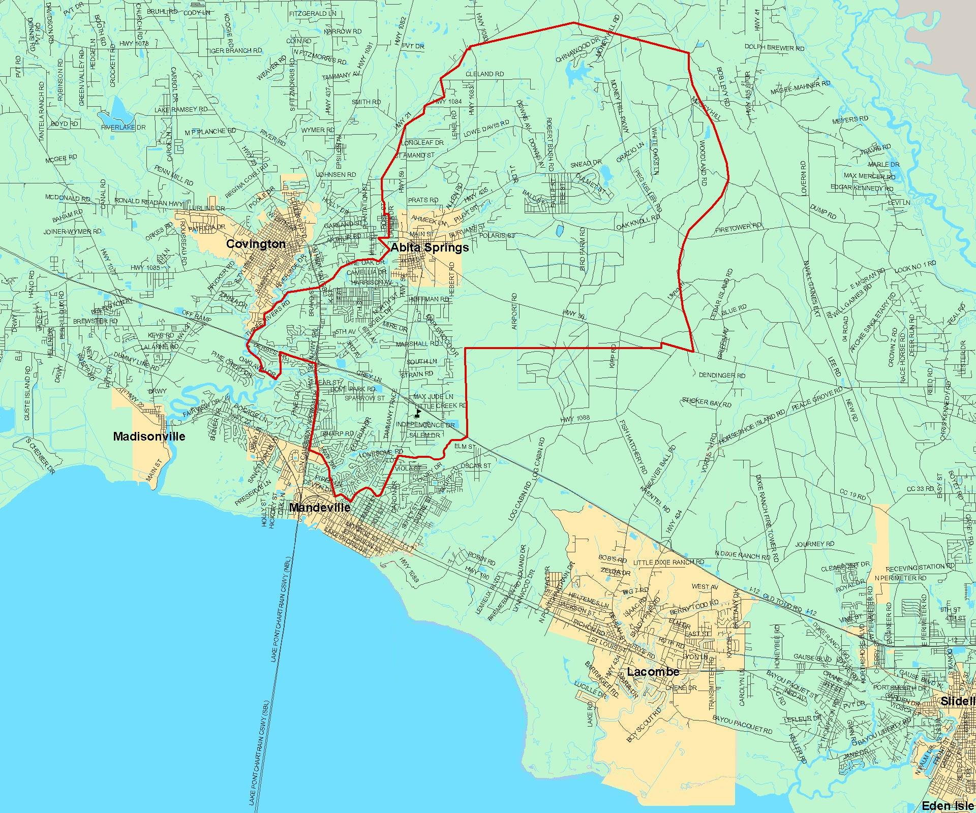 St Tammany School District Maps The Sibley Group Northshore at